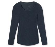 Shirt langarm nachtblau - Personal Fit