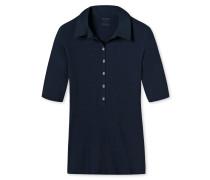 """nachtblaues """"Fräuleinwunder""""-T-Shirt aus Doppelripp"""