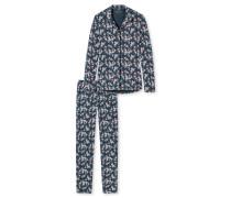 Pyjama lang Interlock Rosen mehrfarbig - Aura