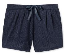 Shorts Jersey Modal nachtblau bedruckt - Mix+Relax