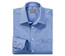 blaues Oberhemd in Regular-Fit-Schnittform