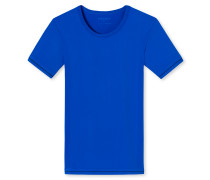 Shirt kurzarm blau - Seamless Active
