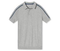 Strickshirt kurzarm grau meliert - Revival Andreas