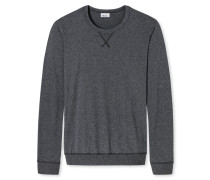 Shirt langarm dunkelgrau meliert - Revival Hugo