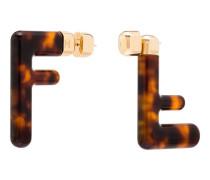 FF motif earrings