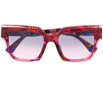 Sonnenbrille mit abstraktem Print