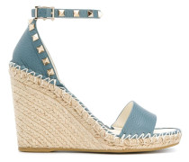 Garavani 'Rockstud' Wedge-Espadrilles, 100mm