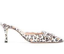 Spitze Pumps mit Leoparden-Print