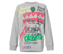 graphic writings sweater