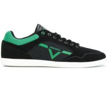 Wildleder-Sneakers mit Canvas-Einsätzen