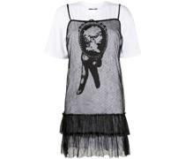 layered T-shirt sheer dress