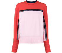 two-tone knit jumper