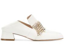 embellished chunky heel mules