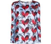 Bluse mit Herz-Print