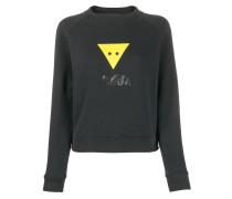 Sweatshirt mit grafischem Dreieck-Print