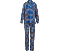 Pyjama mit geometrischem Print