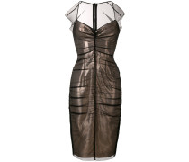 Kleid mit Tüllbesatz