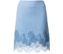 lace embroidered fitted skirt