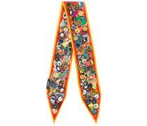 badge print scarf