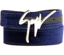 denim logo belt