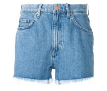'Halsy' Jeans-Shorts mit ausgefranstem Saum