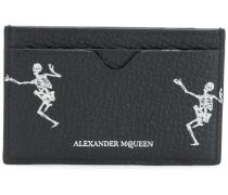 Kartenetui mit Skelett-Print