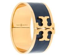 enamelled raised-logo wide bracelet