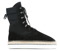 High-Top-Sneakers mit Espadrille-Sohle