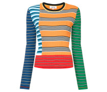 strip colorblocked knit top