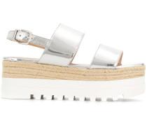 Flatform-Sandalen aus Leder
