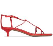 Red Strappy 40 kitten heel sandals
