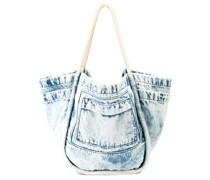'L' Handtasche aus Denim
