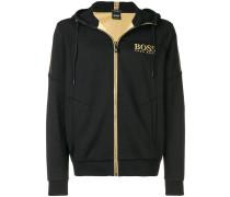 metallic trim hoodie