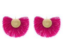 'Fan' Ohrringe mit Wollfransen