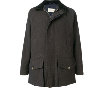 large pocket zipped coat