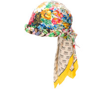 invite and floral print turban