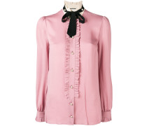 frilled loose blouse