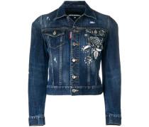 Verzierte Jeansjacke