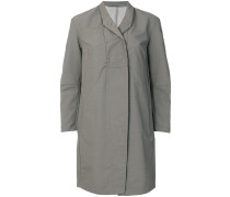 press stud lapel raincoat