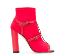 open-toe buckled sandals