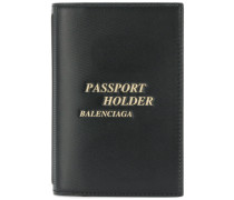 Reisepass-Etui mit Schriftzug