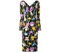 Kleid mit Iris-Print