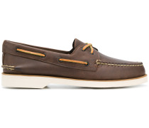 contrast stitched boat shoes