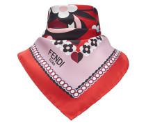 floral logo square scarf