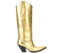 metallic cowboy boots