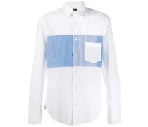 denim panel shirt