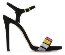 Sandalen mit Glitter-Riemen