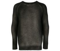 Gerippter Pullover mit Farbverlauf