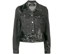 Jeansjacke im Used-Look
