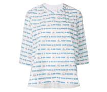 Oversized-T-Shirt mit Slogan-Print